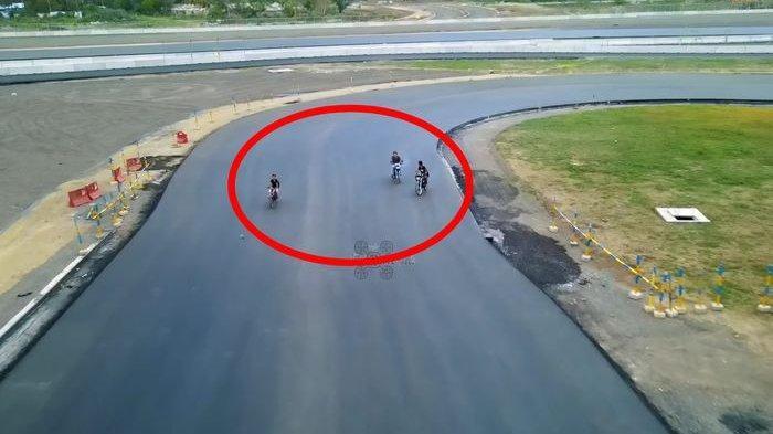VIRAL Aspal Sirkuit Mandalika Lombok Dijajal 3 Sosok Bukan Rider MotoGP, Siapa Mereka Sebenarnya?
