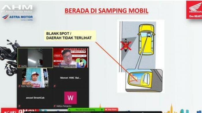 Sebarkan Virus #cari_AMAN, Astra Motor Kaltim 1 Gelar Edukasi Safety Riding Webinar Dengan SMK 6 PPU