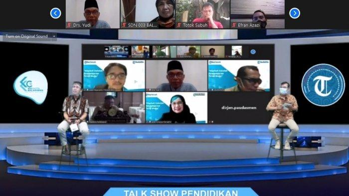 Webinar 'Siapkah Sekolah Pembelajaran Tatap Muka' yang digelar Tribun Kaltim secara langsung dalam video zoom, juga kanal Tribun Kaltim Official, Senin (28/12/2020).