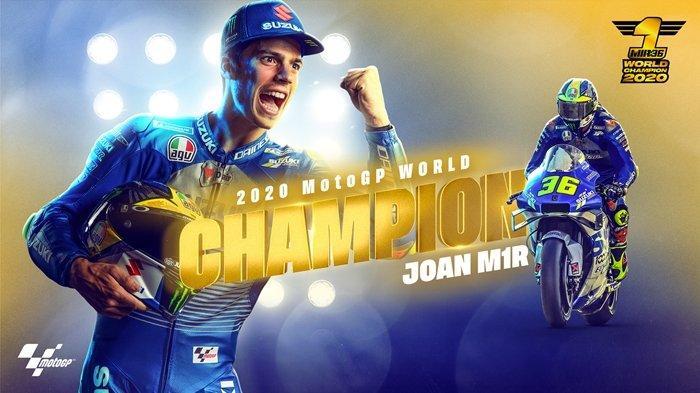 Hasil MotoGP Valencia - Gagal Naik Podium, Joan Mir Kunci Gelar Juara Dunia MotoGP 2020