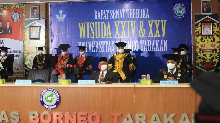 Digelar Secara Virtual, Walikota Hadiri Wisuda Universitas Borneo Tarakan