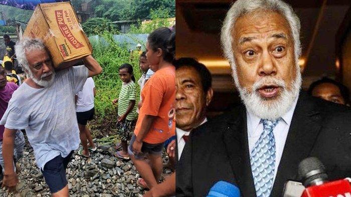 Pria Tua Angkat Kardus Bantuan Korban Banjir Viral, Ternyata Eks Tapol Sahabat Presiden BJ Habibie