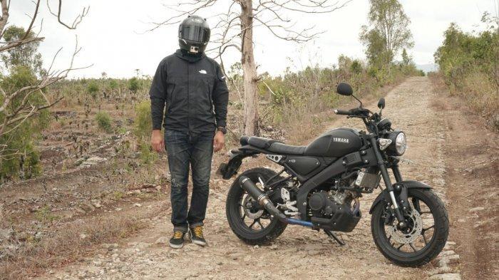 Biker XSR 155 lakukan touring di daerah.