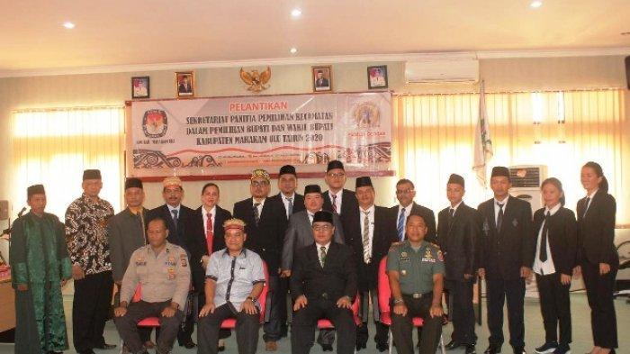 Hadiri Pelantikan Sekretariat PPK Mahulu untuk Pilkada 2020, Sekda Ingatkan Netralitas