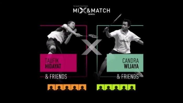 Yonex Legends Vision Mix & Match Indonesia 11 Desember, Line Up Tim Taufik Hidayat vs Candra Wijaya