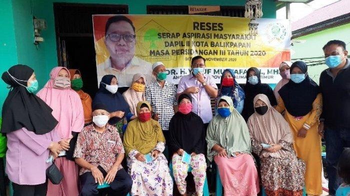 Serap Aspirasi di Balikpapan, Yusuf Mustafa Sekaligus Bagikan Masker dan Sembako