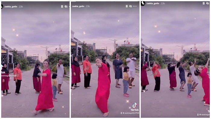 Zaskia Gotik Bikin Mak Menah & Tetangga Ketagihan Joget TikTok, Aksi Terbaru Istri Sirajuddin Mahmud