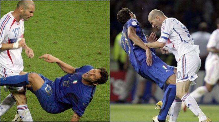 SEJARAH HARI INI - 9 Juli Tandukan Zidane Bikin Materazzi Terpelanting di Final Piala Dunia 2006