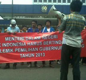 Mahasiswa Desak Mendagri Sikapi Pilgub Lampung