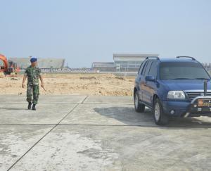 Bangun Taxiway 183 Meter dari Apron Lanud  Tarakan
