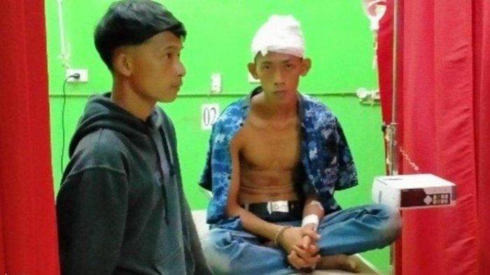 Candra, warga Desa Labuhan Ratu Pasar, Kecamatan Sungkai Selatan, Kabupaten Lampung Utara, mengaku dibacok Irwan.