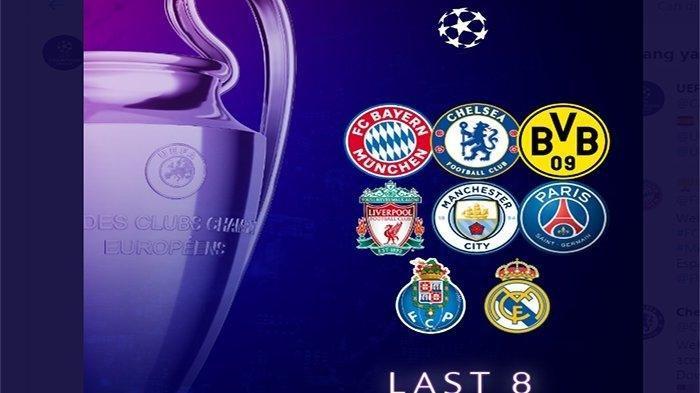 Hasil Lengkap Perempat Final Liga Champions dan Jadwal Leg 2 Pekan Depan Live SCTV & Streaming Video