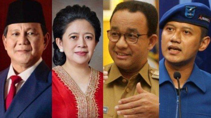 Inilah sederet tokoh politik yang diprediksi akan masuk bursa Capres-Cawapres di Pilpres 2024 mulai dari Prabowo Subianto, Puan Maharani, Anies Baswedan dan Agus Harimurti Yudhoyono.