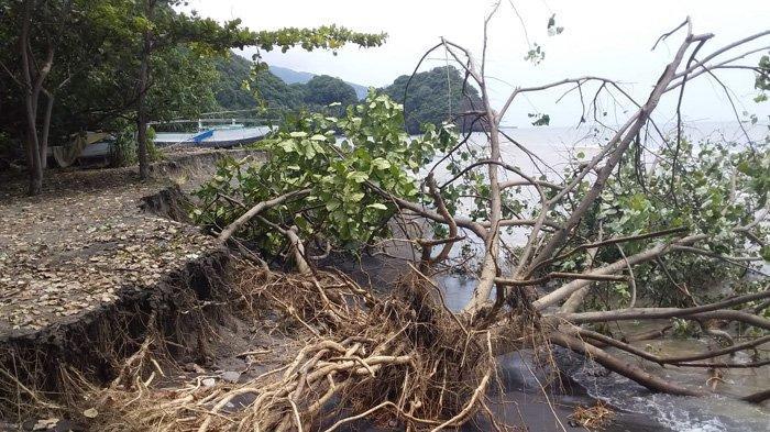 Abrasi di Pantai Nanganesa Ende Bangunan Firdaus Terancam Ambruk