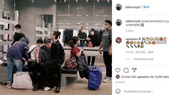 Lewat berbagai unggahannya di Instagram @adamrxsydi, Adam Rosyadi pun tampak lebih berani memamerkan kemesraannya dengan Agnez Mo.