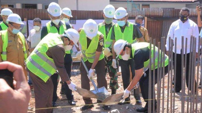 Bupati Belu Letakan Batu Pertama Pembangunan Kantor Kejaksaan