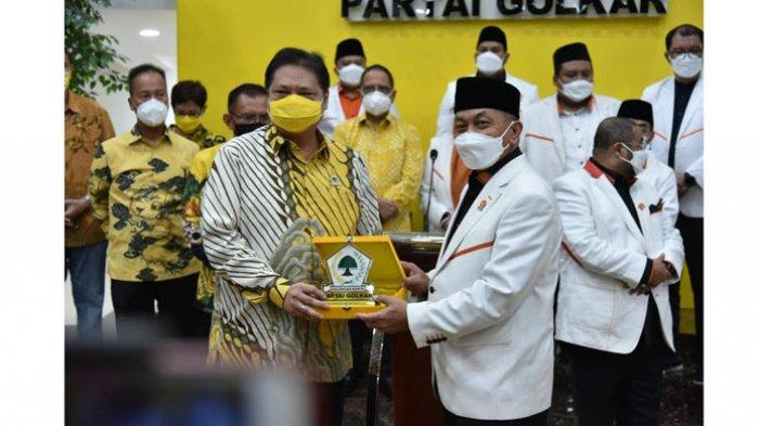 PERTEMUAN GOLKAR-PKS -Pertemuan antara Ketua Umum Golkar,  Airlangga Hartarto dengan PKS di Jakarta,  Kamis (29/4/2021)