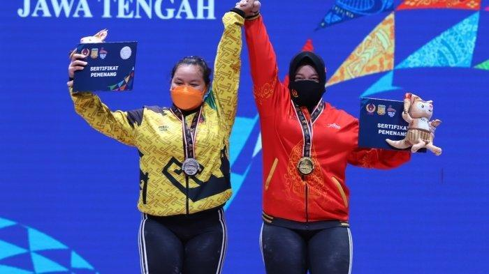 Atlet ANgkat Besi Jateng Sabet Emas, Lampung Boyong Perak PON XX Papua 2021