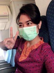 Foto almarhum Mia Trisetyani, pramugari Sriwijaya Air asal Sabu NTTsebelum kejadian