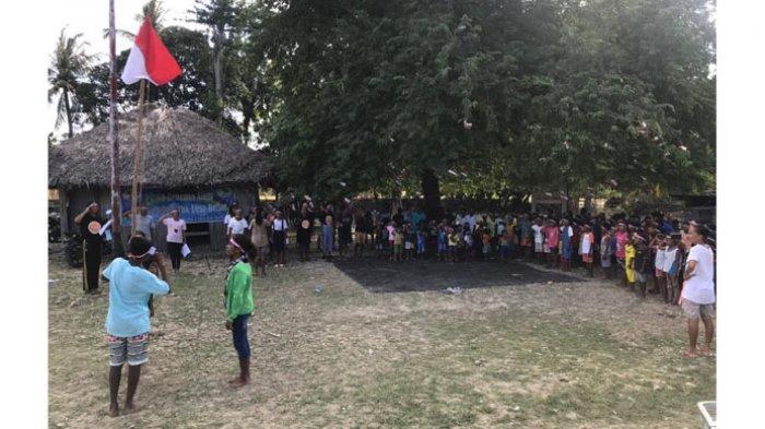 Begini Suasana Anak-Anak Perbatasan RI-RDTL Peringati Hari Lahir Pancasila Dalam Kesederhanaan