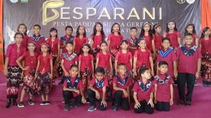Anak-Anak St Gregorius Agung Waingapu Tampil Bersinar Dalam Pesparani Sumba Timur 2019