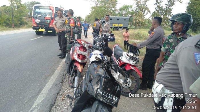 Anggota Brimobda NTT dan TNI Siaga di Lokasi Kejadian di Naibonat