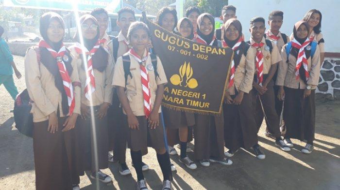 Ikuti Kemah Literasi, Pramuka Adonara Timur Berkumpul di SMA Muhammadiyah Lamahala