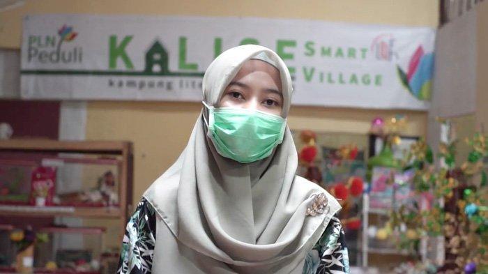 Anissa Maharani Nasra, pendiri Kalise (Kampung Literasi Selamat) di Kelurahan Sungai Jawi, Pontianak, Kalimantan Barat.