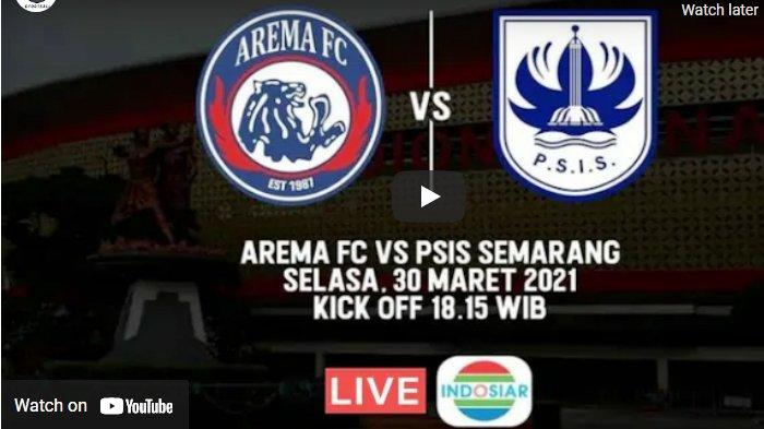 Siaran Langsung Arema vs PSIS Live Indosiar Piala Menpora 18.15 WIB: Singo Edan Butuh Mental Baja