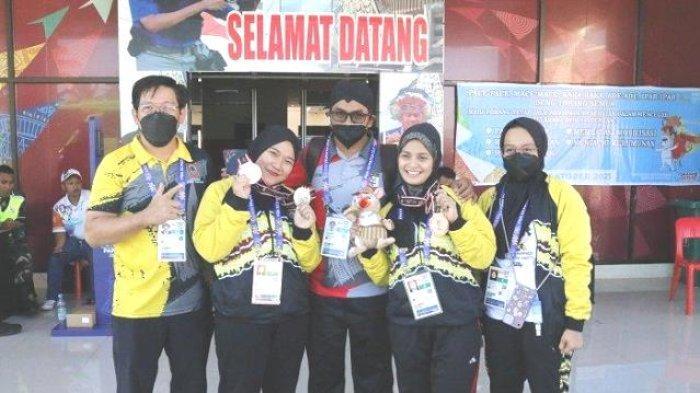Atlet Kalsel Tambah Dua Medali Melalui Cabor Menembak Nomor 10 m Air Pistol Women PON XX Papua