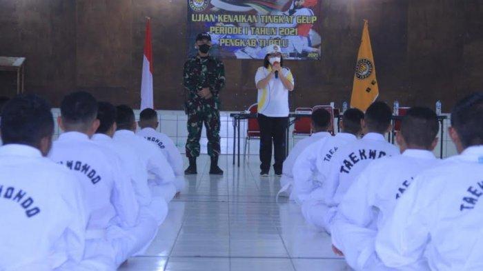 Atlet Taekwondo Kabupaten Belu Uji Kenaikan Tingkat