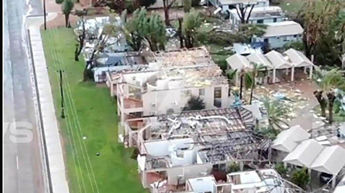 Badai Seroja Sampai Australia  Barat, Porak Porandakan  Kalbarri, Kecepatan Angin 2 Kali Lipat Dibandung  NTT