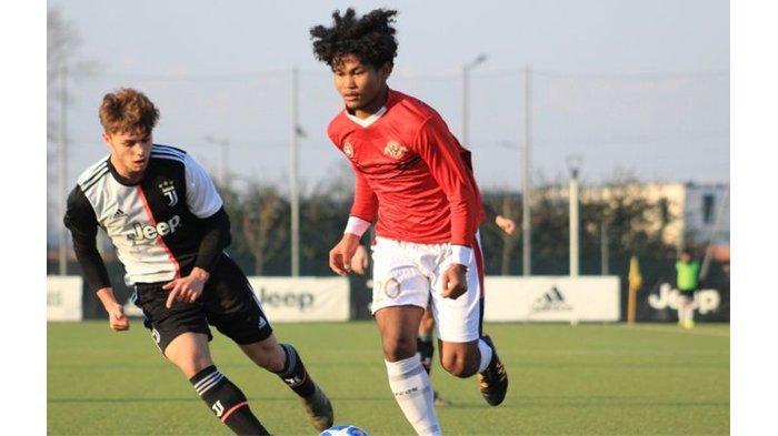 Bagus Kahfi saat berlaga bersama Garuda Select dalam laga melawan Juventus U-17 di Juventus Training Center, Vinovo, Turin, Kamis 16/1/2020).