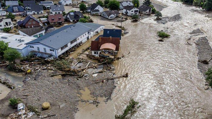 Banjir Besar Mengerikan Hantam dan Hancurkan Eropa, 50 Orang di Jerman Tewas , Puluhan Masih Hilang