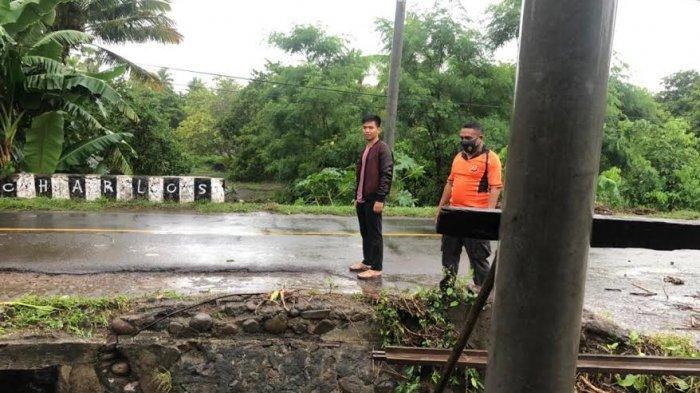 Air di Deker Koro Desa Wairbleler Meluap, Banjir Masuk ke Jalan Trans Flores, Ini Laporannya