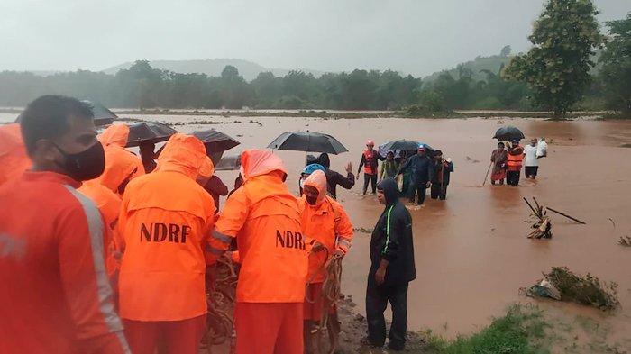 Hujan Munson di India, Sedikitnya 112 Tewas Akibat Longsor dan Banjir di Negara Bagian Maharashtra