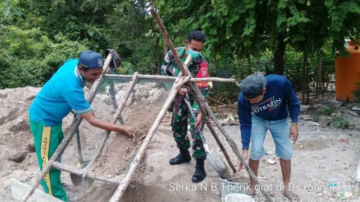 Bantu Bangun Rumah, Agus Lette Terima Kasih Kepada Babinsa Kodim 1640/Kupang Serka NB Therik