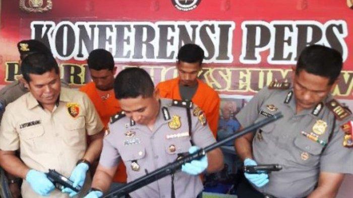 Bawa Senjata Api Saat Menagih Utang, Dua Pria Ditangkap Polisi