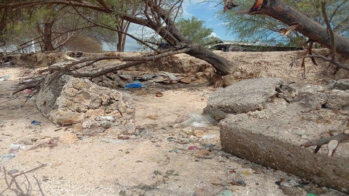 Kondisi Terakhir Tanggul Penahan Gelombang di Oesapa Barat Kota Kupang