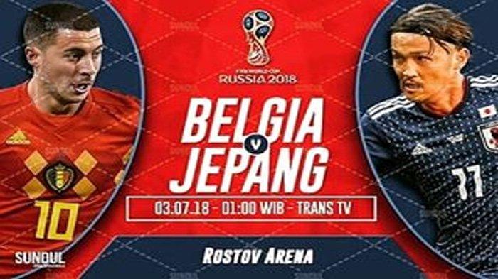 LIVE Trans TV, Begini Cara Nonton Live Streaming Belgia vs Jepang di Hp Anda