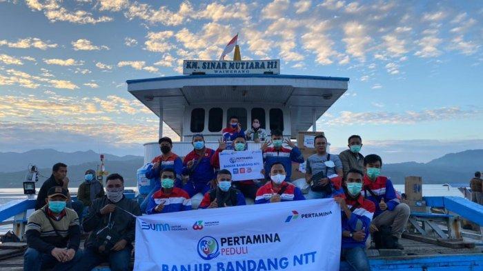 Bencana di NTT, Pertamina Peduli Turun Langsung Beri Bantuan
