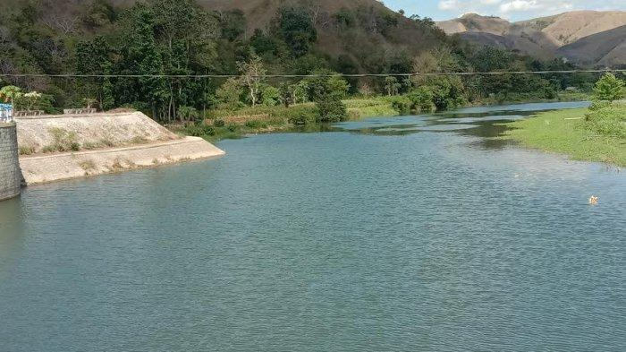 Bendung Kambaniru di Kabupaten Sumba Timur. Gambar diambil Selasa (20/10/2020).