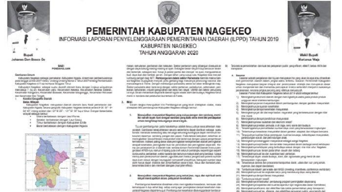 Berikut Laporan ILPPD Kabupaten Nagekeo 2020
