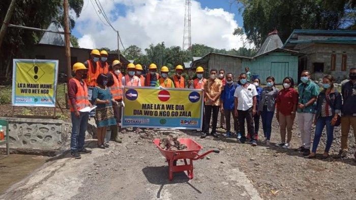 Launching Kegiatan CFW Program Kotaku, Ketua DPRD Ngada Harap Bisa Berdampak pada Warga