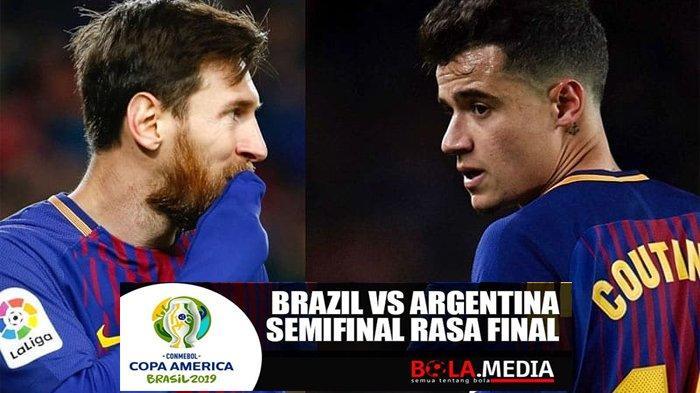 Jadwal Live Streaming Brasil vs Argentina Semifinal Copa America 2019, Pembuktian Lionel Messi