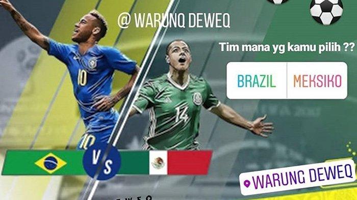 LIVE Trans TV Pukul 21.00 WIB Malam Ini, Brazil vs Meksiko, Tim Samba Lebih Diunggulkan