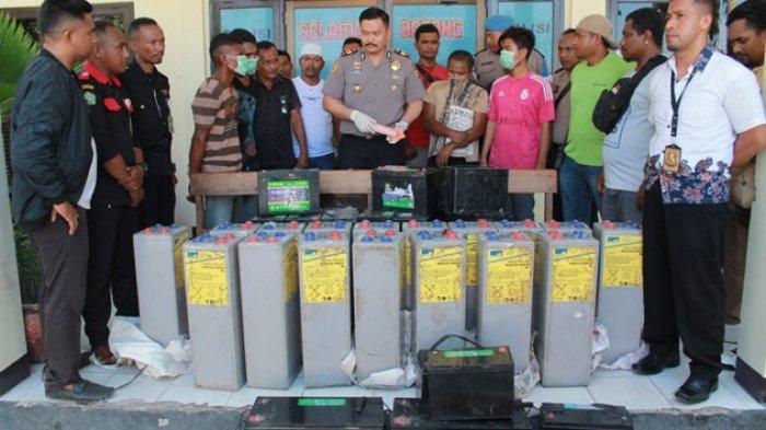 BREAKING NEWS: Dua Pelaku Pencurian Aki Lampu Jalan di Kota Kupang Dibekuk Polisi