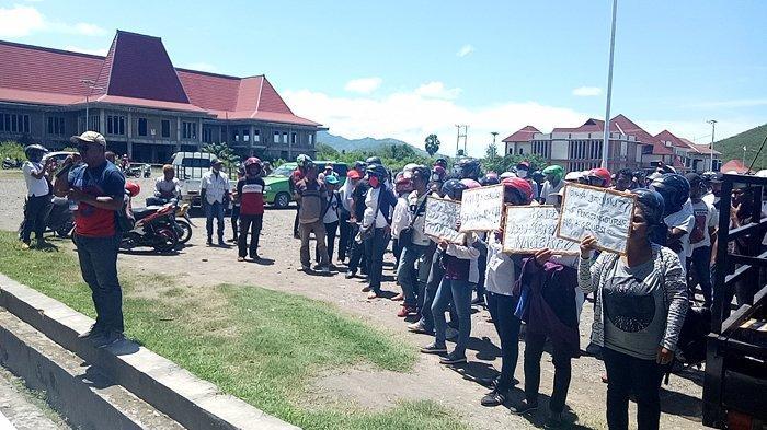 BREAKING NEWS: Perekrutan THL Diduga Tidak Transparan, FPPN Demo Pemkab Nagekeo