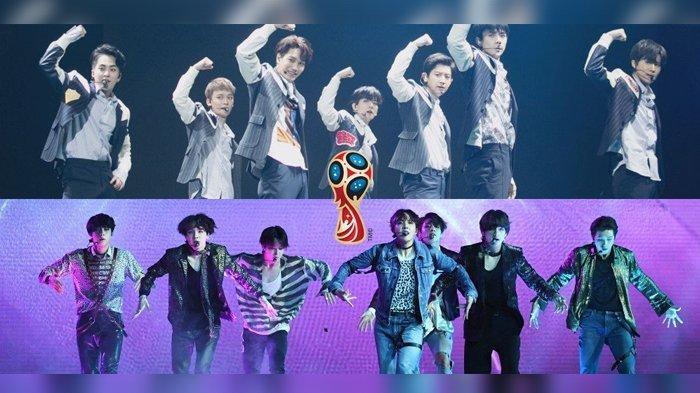 Terpilih Melalui Voting, Lagu EXO dan BTS Bakal Diputar di Piala Dunia 2018