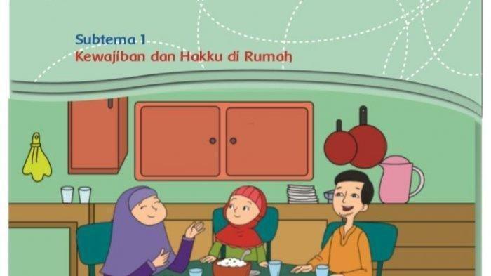 KEWAJIBAN dan Hakku di Rumah, KUNCI Jawaban Halaman 2 3 4 5 6 Tema 4 Kelas 3 Buku Tematik SD/MI